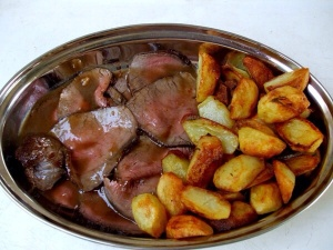 Roast beef con patate