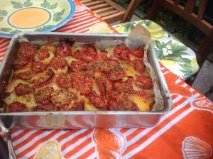 Tortino di patate e pomodori