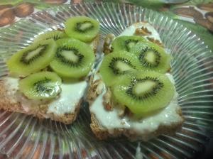 Crostone al kiwi