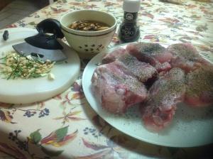 Ingredienti per cucinare il pollo
