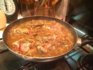 Pollo in cottura